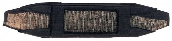 Kinnkettenunterlage Gummi - schwarz