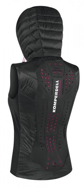 Thermovest women mit integriertem Rückenprotektor - schwarz/pink