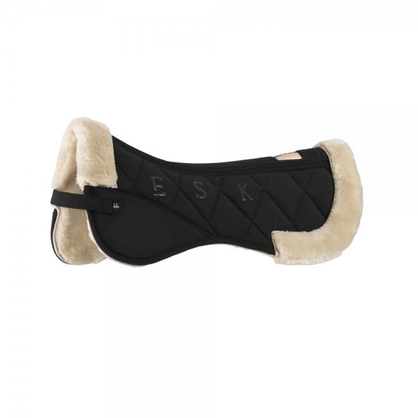Saddle Pad FAUXFUR SOFTSHELL - black