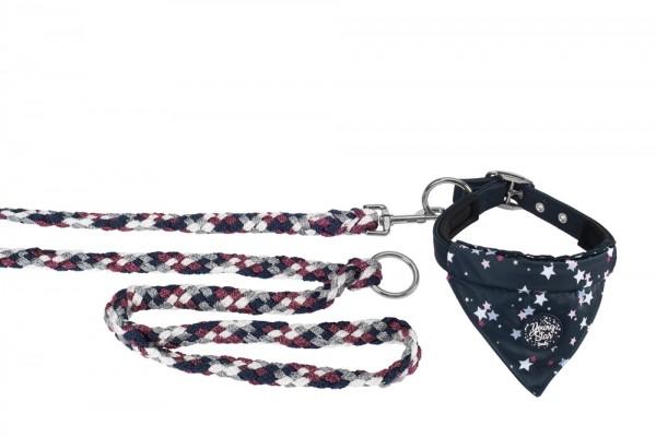 Set Hundehalsband & Leine - navy