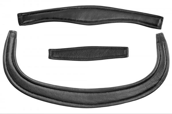 Polster Ersatz für Trense Leon, Leder - schwarz