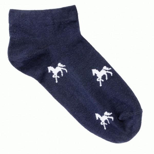 Sneaker Socken mit Pferdemotiv - marine