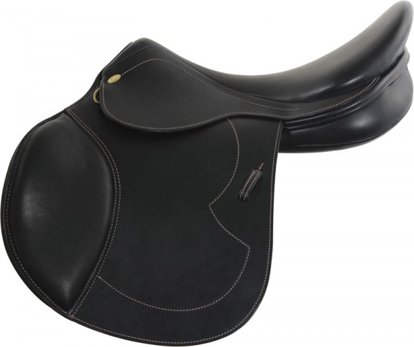 Naxos Springsattel, FK, Country Leather, +2cm - schwarz