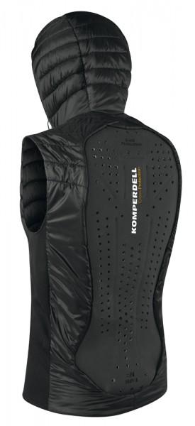 Thermovest men mit integriertem Rückenprotektor - schwarz/orange