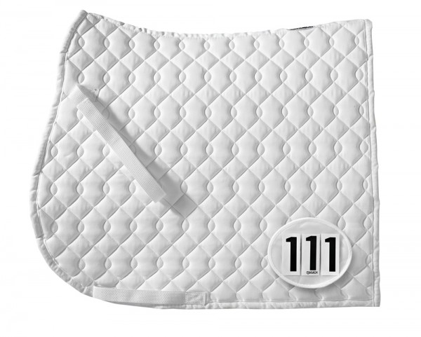 Startnummern-Tasche mit Klett - weiß