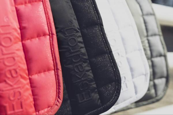 BIG SQUARE GLITTER Saddle Cloth - weiß
