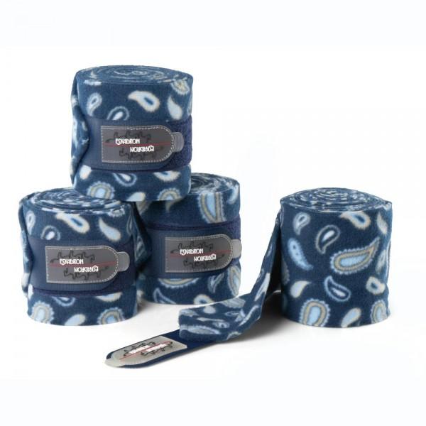 Bandagen Fleece Paisley Warmblut - navy