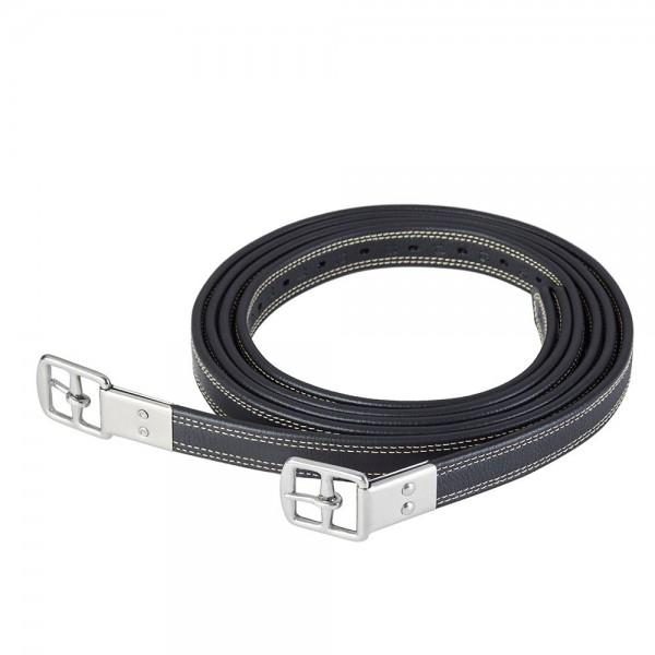Ikonic Bügelriemen Leder/Nylon - schwarz