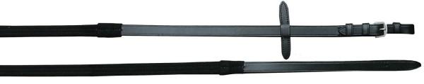 Lederzügel Clarino - schwarz