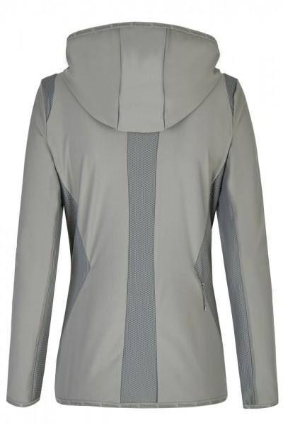ZIP-HOOD REFLEXX Tech-Jersey Shirt - lightolive,||