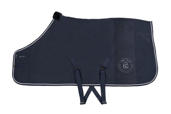 HEIDA (Fleece Decke) - darkblue