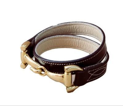Armband Leder doppelt - braun