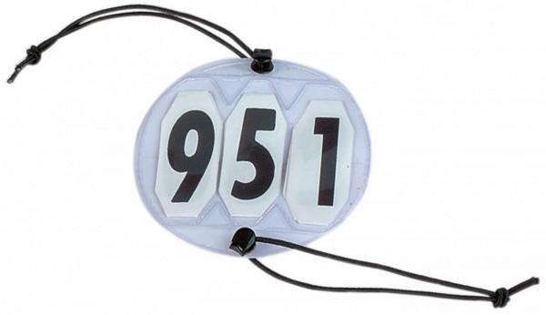 Startnummern RUND 3-stellig - weiß
